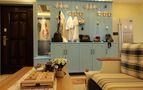 100平米三室三厅地中海风格客厅效果图