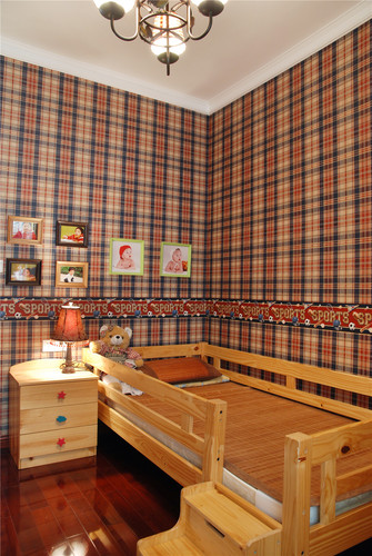 90平米三室两厅地中海风格儿童房欣赏图