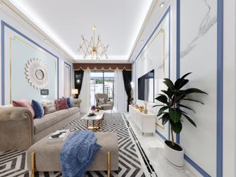 富裕型130平米三美式风格客厅装修图片大全