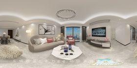 80平米三室兩廳現代簡約風格客廳裝修案例