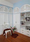 130平米三室一厅田园风格书房装修案例