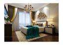 140平米别墅中式风格卧室灯饰装修效果图
