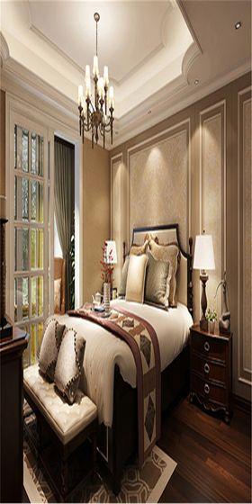 140平米四美式風格臥室圖片
