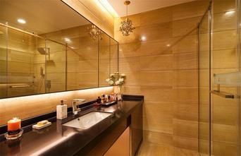 110平米三室两厅现代简约风格卫生间浴室柜设计图