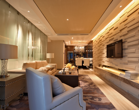 110平米四现代简约风格客厅欣赏图