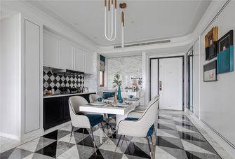 140平米三室两厅英伦风格餐厅装修图片大全