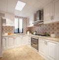 90平米三室两厅美式风格厨房橱柜图片大全