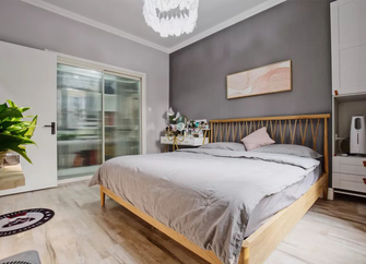 60平米北欧风格卧室欣赏图