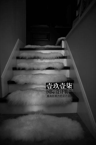 富裕型140平米三室一厅美式风格楼梯设计图