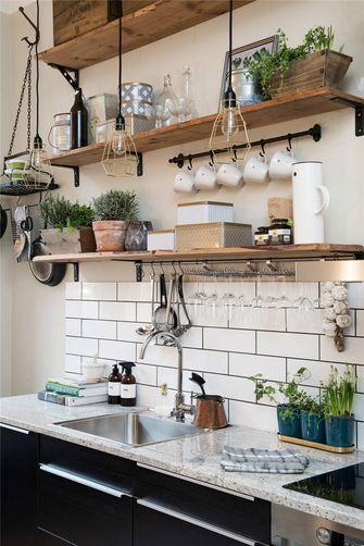 90平米三室两厅北欧风格厨房装修图片大全