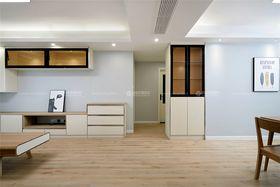 80平米三室两厅田园风格客厅图
