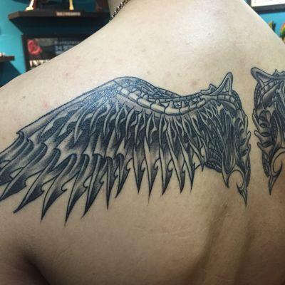 机械翅膀2纹身款式图