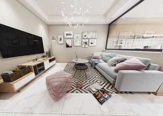 富裕型90平米田园风格客厅效果图