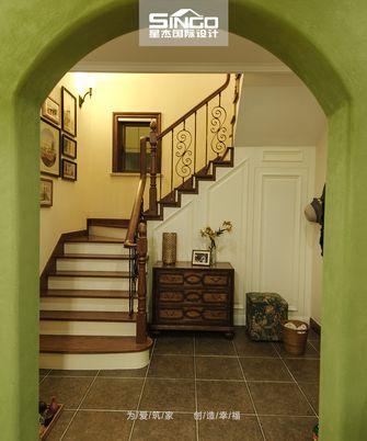 20万以上140平米别墅田园风格楼梯间图片
