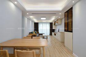 80平米三室两厅田园风格餐厅图