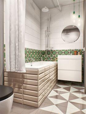 80平米三室一厅田园风格卫生间欣赏图