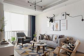 120平米北歐風格客廳裝修圖片大全