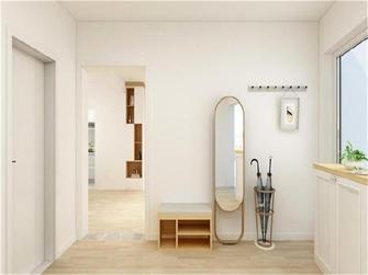 90平米三室一厅田园风格玄关效果图