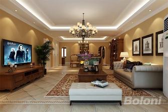 120平米三室一厅美式风格客厅欣赏图