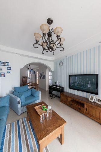 50平米一室一厅地中海风格客厅图片