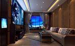 140平米别墅英伦风格影音室图片