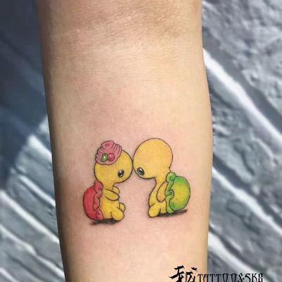 卡通小乌龟纹身图