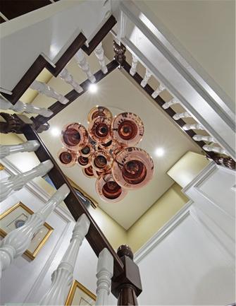 富裕型140平米别墅新古典风格楼梯设计图