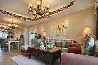 110平米三室两厅田园风格客厅图片