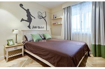 140平米三室两厅地中海风格卧室装修图片大全