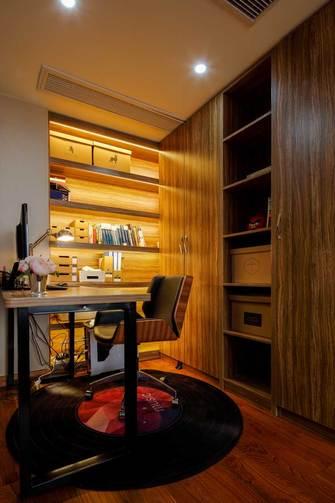 140平米四室两厅英伦风格书房图片