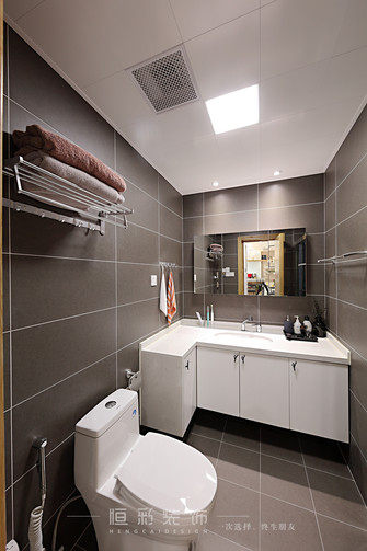 80平米三室两厅北欧风格卫生间设计图