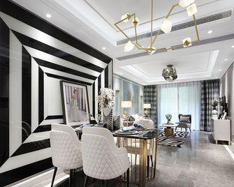 100平米三室两厅英伦风格餐厅效果图