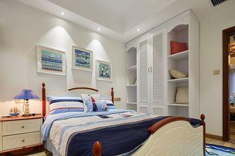 130平米三室一厅田园风格卧室图片