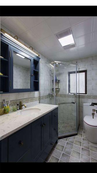 110平米三室一厅美式风格卫生间图片大全