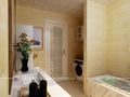 140平米别墅现代简约风格卫生间背景墙图片