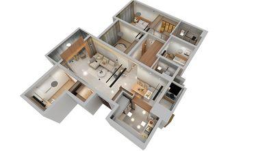 100平米四室一厅北欧风格其他区域设计图