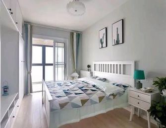 90平米三室一厅宜家风格卧室壁纸装修效果图