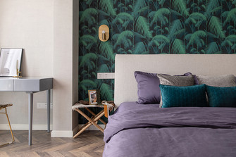 80平米公寓法式风格卧室装修案例