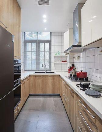 130平米三室一厅混搭风格厨房图片大全
