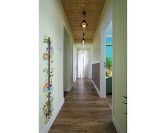 100平米三室一厅田园风格走廊欣赏图