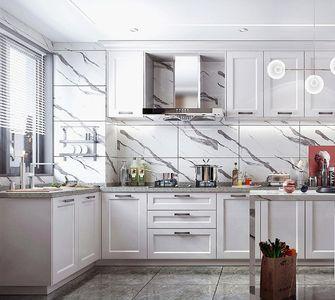 120平米三室一厅现代简约风格厨房图片大全