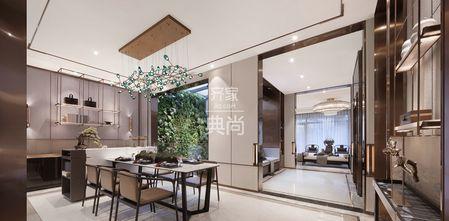 130平米四室一厅中式风格餐厅装修效果图