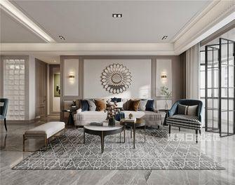110平米美式风格客厅图片大全