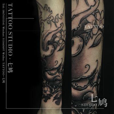 传统般若纹身图