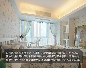 100平米三室一厅田园风格卧室装修图片大全