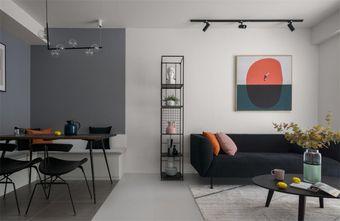 80平米三室两厅混搭风格客厅图