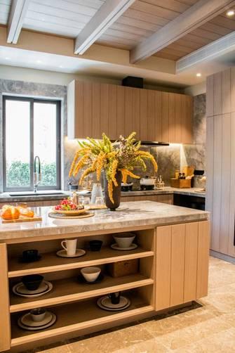 5-10万140平米复式田园风格厨房图片
