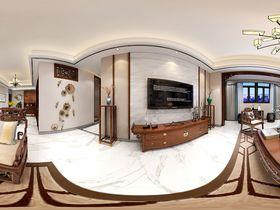 120平米三室兩廳中式風格客廳圖片大全
