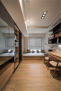 120平米三室两厅日式风格书房欣赏图