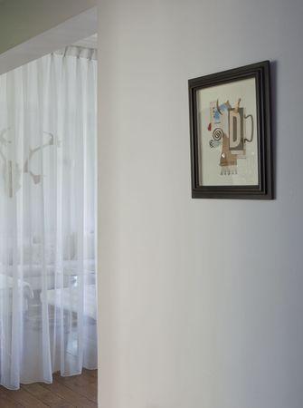 80平米公寓美式风格走廊欣赏图